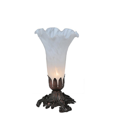 8 in. H White Pond Lily Accent Lamp