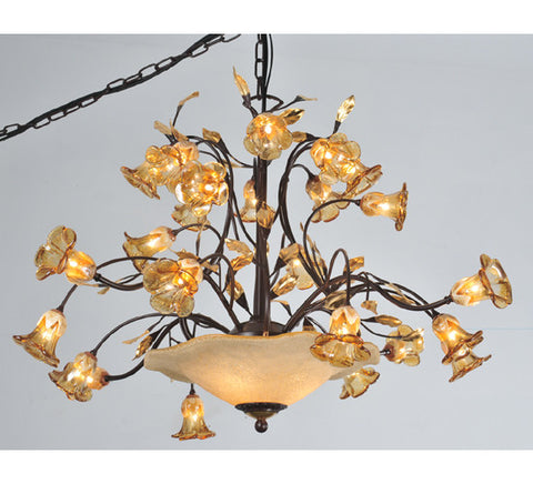 "40""W Celestial Bouquet 24 Arm Chandelier"