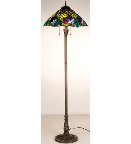 "64.5""H Spiral Grape Floor Lamp"