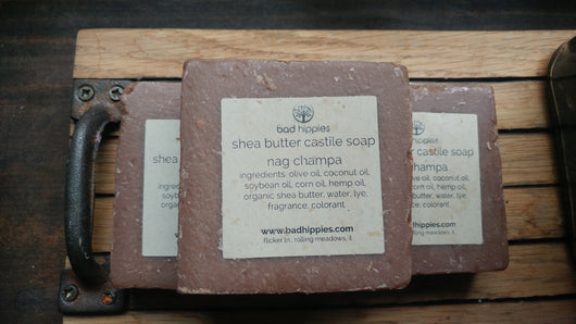 nag champa shea butter soap - Bad Hippies