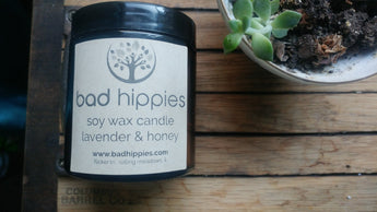 honey lavender candle - Bad Hippies