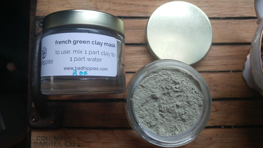 french green clay face mask