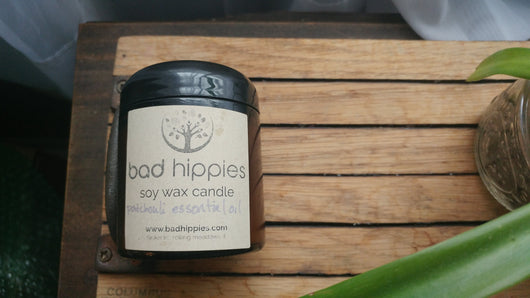 patchouli essential oil candle - Bad Hippies
