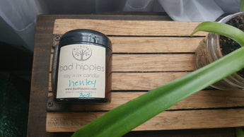 henley essential oil candle - Bad Hippies