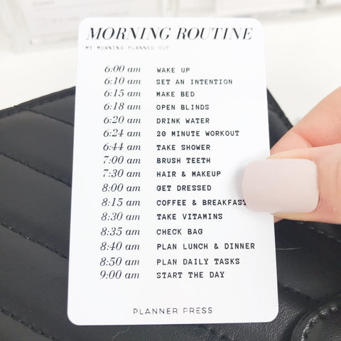 "PocketCard Custom: ""Morning Routine - Timed"" PocketCards - Planner Press"