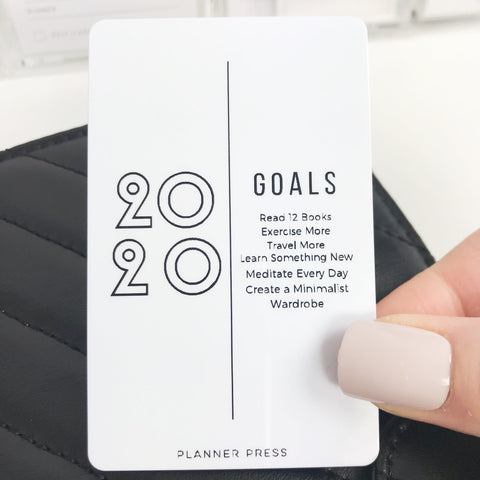 "PocketCard Custom: ""2020 Goals"" PocketCards - Planner Press"