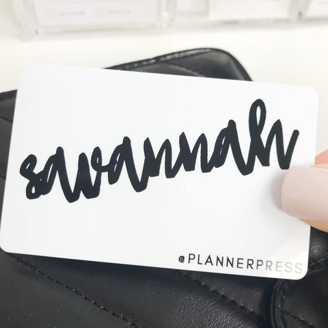 "PocketCard Custom: ""First Name and Insta"" PocketCards - Planner Press"