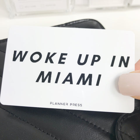 "PocketCard Custom: Woke Up In ""Custom Town/City Name"" Pocket Cards - Planner Press"