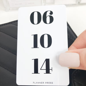 "PocketCard Custom: ""Date"" Vertical PocketCards - Planner Press"