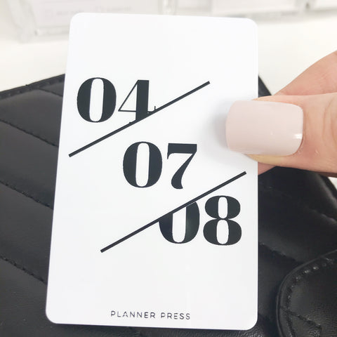 "PocketCard Custom: ""Modern Date"" PocketCards - Planner Press"