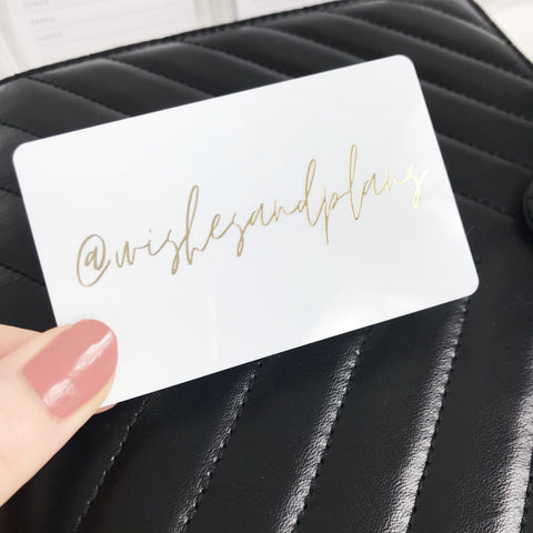 PocketCard Custom: Personalized IG Social Media Name in Gold Foil - Planner Press