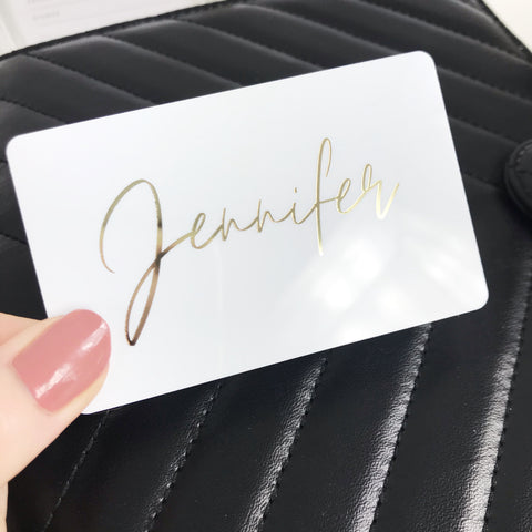PocketCard Custom: Your Personalized Name - Script - Gold Foil - Planner Press