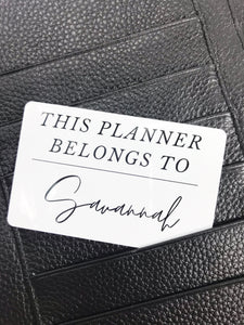 Sophisticated This Planner Belongs To Custom PocketCard - Planner Press