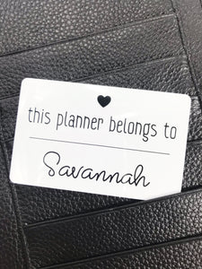 This Planner Belongs To Custom Pocket Card Cute - Planner Press