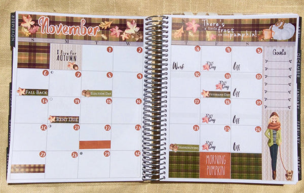 November Monthly View Kit Planning Reminder Stickers - Fits Erin Condren, KikkiK, Filofax Planners and Midori Notebooks 2085 - Planner Press
