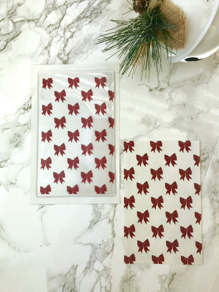 Red Bows DashStash Sticker for Adhesive Vinyl Pockets  For TN's and Midori Travelers Notebook & Ringbound Planners - Planner Press