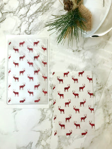 Red Glitter Deer DashStash Sticker for Adhesive Vinyl Pockets  For TN's and Midori Travelers Notebook & Ringbound Planners - Planner Press