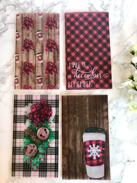 Buffalo Christmas Coffee Vellum Planner Dashboards For TN's and Midori Travelers Notebook V167 - Planner Press