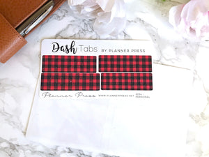DashTabs by Planner Press Buffalo Plaid Top Tabs For TN's and Midori Travelers Notebook & Ringbound Planners 2234 - Planner Press