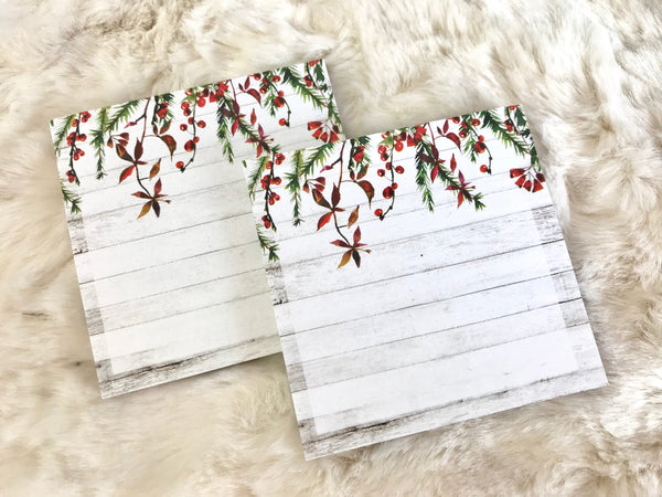 Winter Wishes Sticky Note Pad 50 Pages - Planner Press