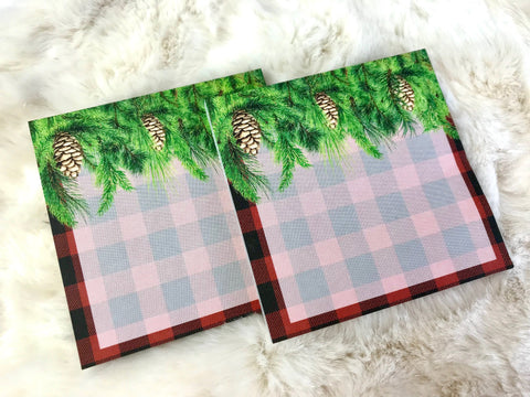 Warm & Cozy Buffalo Plaid Sticky Notes 50 Sheets Post-Its - Planner Press