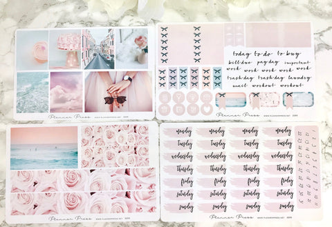 Pink Dreams Planner Sticker Weekly Kit - Fits Erin Condren, KikkiK, Filofax Planners and Midori Notebooks - Planner Press