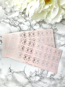 MINI Blush Pink Bow Tabs With Silver Foil - Fits Erin Condren, KikkiK, Filofax Planners and Midori Notebooks - Planner Press