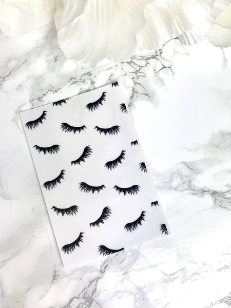 Lashes For Days DashStash Sticker for Adhesive Vinyl Pockets  For TN's and Midori Travelers Notebook & Ringbound Planners - Planner Press