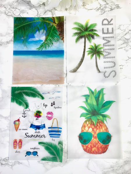 Summer Vibes Planner Dashboards For TN's and Midori Travelers Notebook V182 - Planner Press