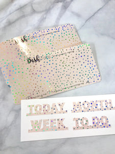 "SPECIAL EDITION DashTabs by Planner Press ""Holographic Heart"" Top Tabs For TN's and Midori Travelers Notebook & Ringbound Planners 2270 - Planner Press"