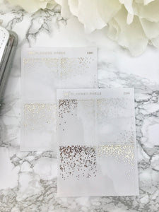 Confetti Clear Overlay Foil Headers - Fits Erin Condren, KikkiK, Filofax Planners and Midori Notebooks 2281 - Planner Press
