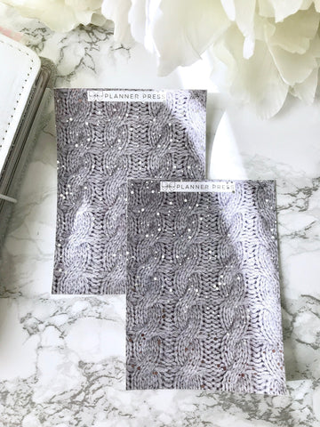 Sweater Weather Foiled Headers- Fits Erin Condren, KikkiK, Filofax Planners and Midori Notebooks 2276