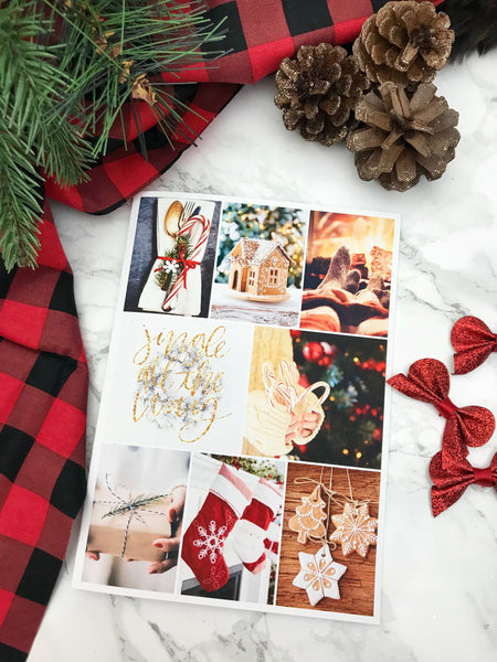 Christmas Vision Board Planner Dashboards For TN's and Travelers Notebook - Planner Press