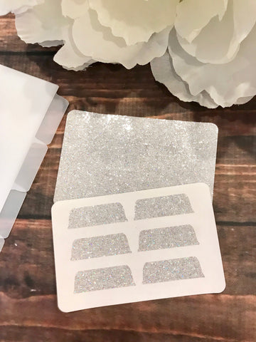 Transparent Holo Glitter Divider Background Tabs Modular System - Planner Press