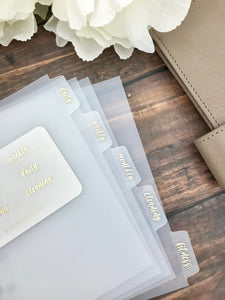 *OTHER SIZES* Girl Boss Foiled Clear Divider Tabs Modular System Labels T-1504 - Planner Press