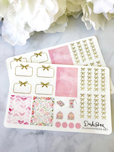 Pink Everything Sticker Sheet from the DashBox Subscription - Planner Press