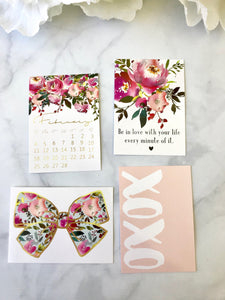 XOXO Quote Cards from the DashBox Subscription - Planner Press