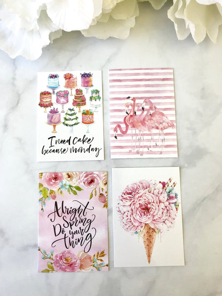 Pink Pop Quote Cards from the DashBox Subscription - Planner Press