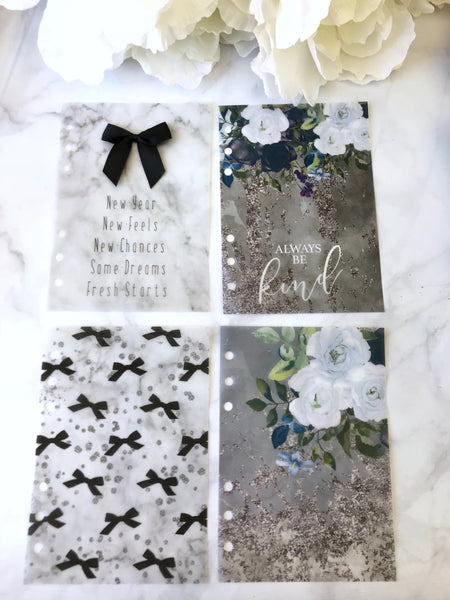 New Years Floral Dashboard Sets from the DashBox Subscription - Planner Press