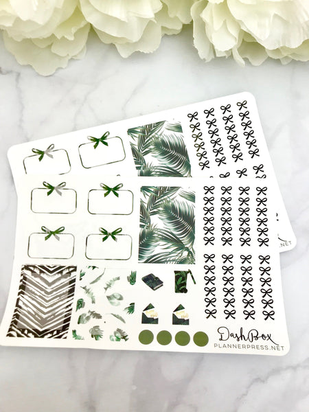Tropical Getaway Sticker Sheet from the DashBox Subscription - Planner Press