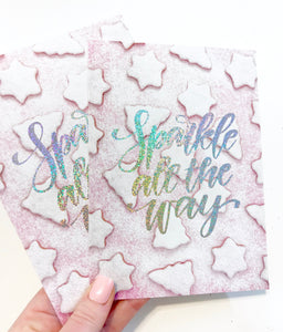 Sparkle All The Way 5x7 Planner Card - Planner Press