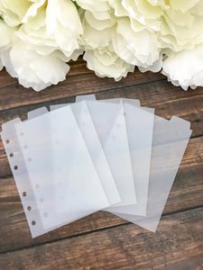 Top Tab A6 Ringbound Divider Tabs Modular System - Planner Press