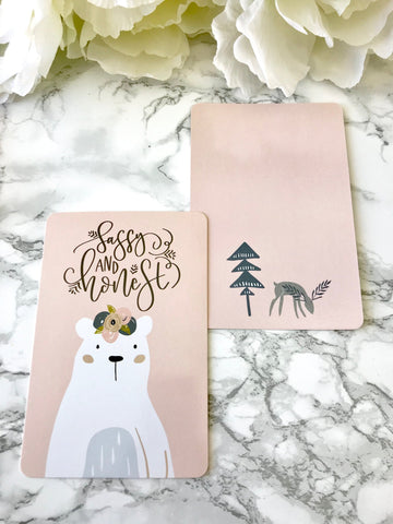 Sassy Bear Planner Card - Planner Press