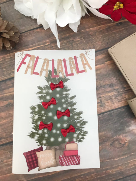 Falalala Bow Tree Dashboards For TN's and Midori Travelers Notebook - Planner Press