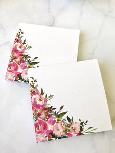 Pink Corner Floral Post-it Notes from the DashBox Subscription - Planner Press