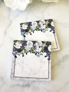 Marble and Purple Floral Post-it Notes from the DashBox Subscription - Planner Press