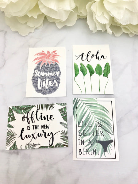 Tropical Getaway Quote Cards from the DashBox Subscription - Planner Press