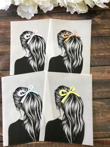 Vinyl Ponytail Bow Girl Planner Dashboards For TN's and Midori Travelers Notebook - Planner Press