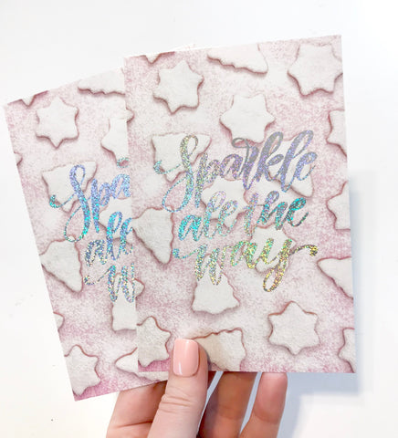 Sparkle All The Way 4x7 Planner Card - Planner Press