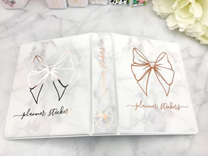 Marble and Rose Gold Foil Sticker Album Cover Kit SA005 - Planner Press